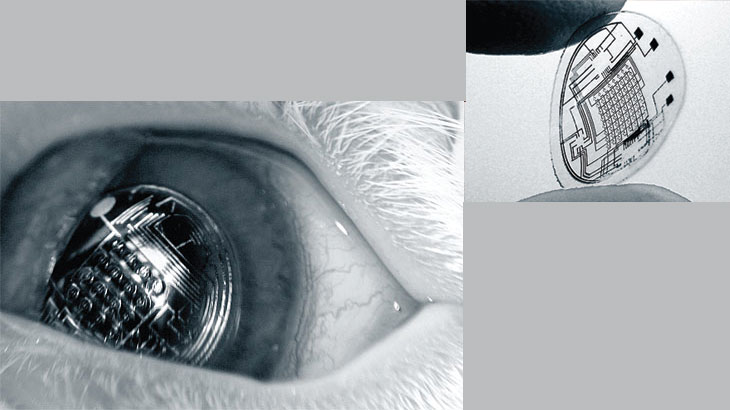 Augmented Reality in a Contact Lens